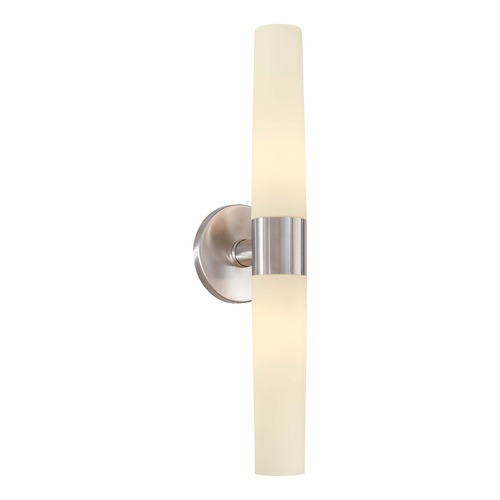 George Kovacs Lighting Saber Brushed Stainless Steel Bathroom Light - Vertical or Horizontal Mounting P5042-144