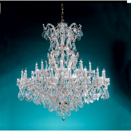 Crystorama Lighting Crystal Chandelier in Polished Chrome Finish 4424-CH-CL-S