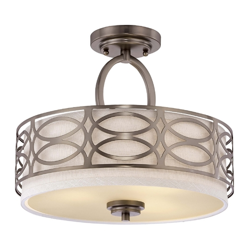 Nuvo Lighting Modern Semi-Flushmount Lights in Hazel Bronze Finish 60/4729