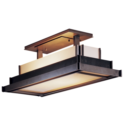 Hubbardton Forge Lighting Two-Light Semi-Flush Ceiling Light 123709-17-B417
