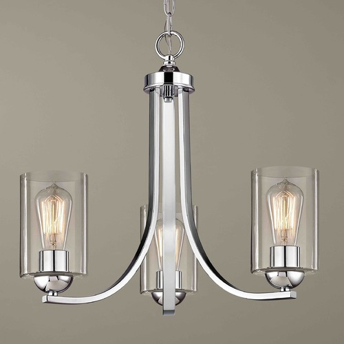 Design Classics Lighting Design Classics Dalton Fuse Chrome Mini-Chandelier 5843-26 GL1040C