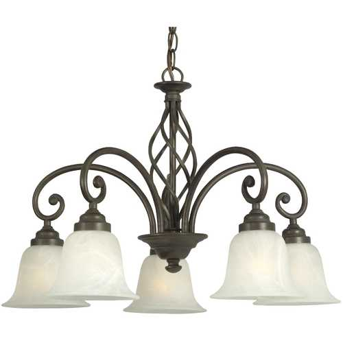 Dolan Designs Lighting Bronze Weave Design Chandelier with Five Lights 185-34