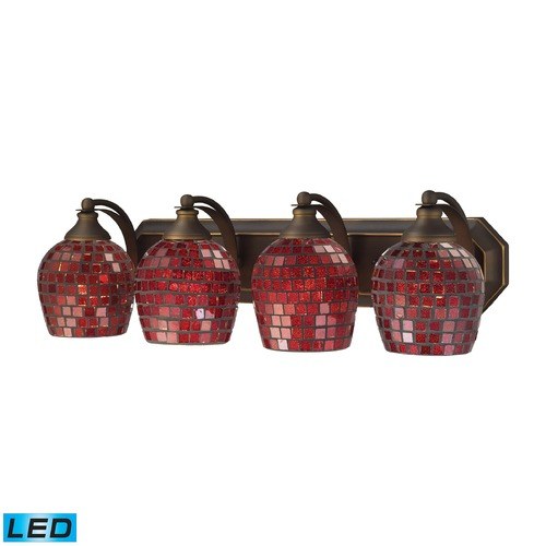 Elk Lighting Elk Lighting Bath and Spa Aged Bronze LED Bathroom Light 570-4B-CPR-LED