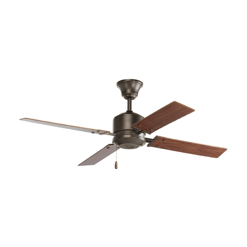 Progress Lighting Progress Ceiling Fan Without Light in Antique Bronze Finish P2531-20