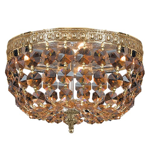 Crystorama Lighting Crystorama Lighting Ceiling Mount Olde Brass Flushmount Light 710-OB-GT-MWP