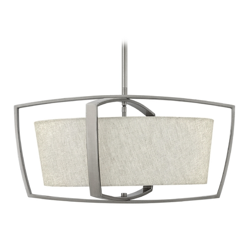 Hinkley Lighting Hinkley Lighting Blakely Brushed Nickel Pendant Light with Drum Shade 3794BN