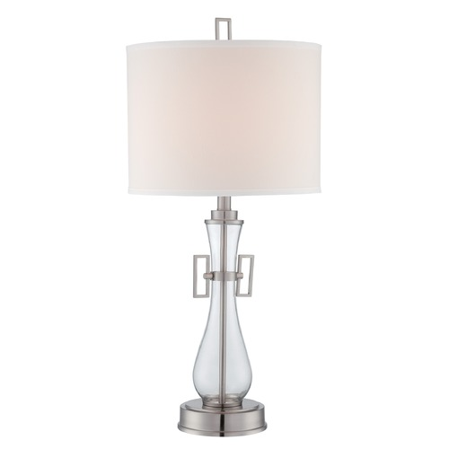 Lite Source Lighting Lite Source Lighting Dyani Polished Steel Table Lamp with Drum Shade LS-22662