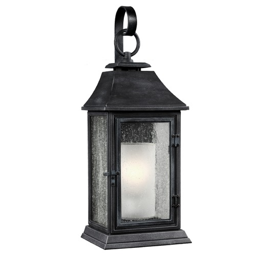 Feiss Lighting Feiss Lighting Shepherd Dark Weathered Zinc Outdoor Wall Light OL10602DWZ