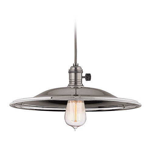 Hudson Valley Lighting Hudson Valley Lighting Heirloom Historic Nickel Pendant Light with Bowl / Dome Shade 8002-HN-MM2