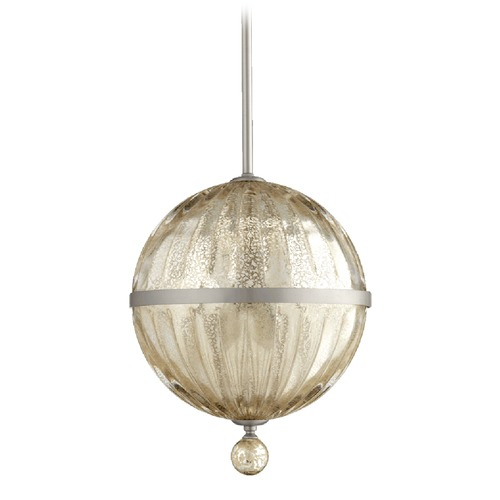 Quorum Lighting Mercury Glass Mini-Pendant Light Satin Nickel Quorum Lighting 683-10-65