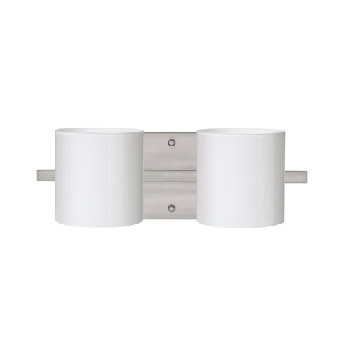 Besa Lighting Besa Lighting Pogo Satin Nickel LED Bathroom Light 2WS-718006-LED-SN