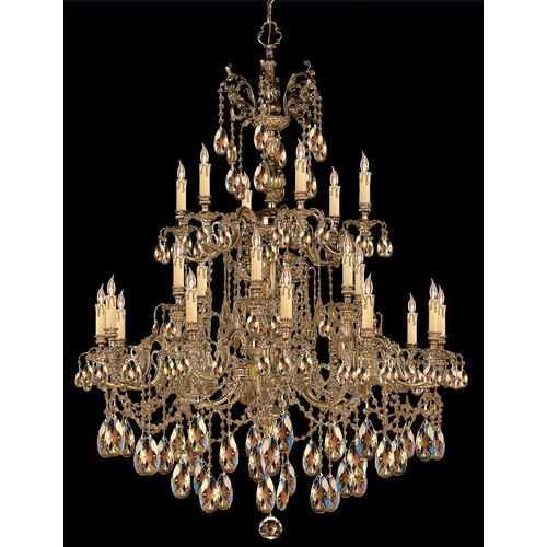 Crystorama Lighting Crystorama Lighting Novella Olde Brass Crystal Chandelier 2724-OB-GTS