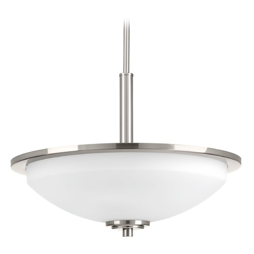 Progress Lighting Modern Pendant Light Brushed Nickel Replay by Progress Lighting P3450-09