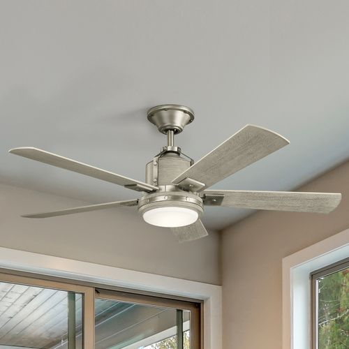 Kichler Lighting Kichler Lighting Colerne Brushed Nickel 52-Inch LED Ceiling Fan 1600LM 3000K 300052NI