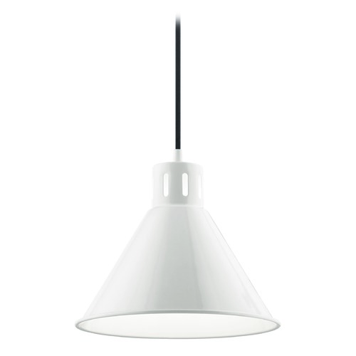 Kichler Lighting Kichler Lighting Zailey White Pendant Light with Conical Shade 52176WH