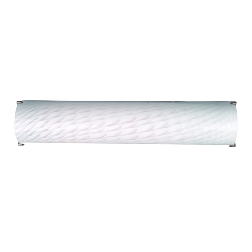 Philips Lighting Modern Bathroom Light with White Glass in Satin Nickel Finish F349536U