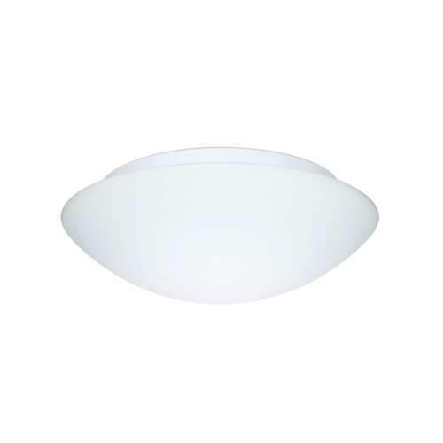 Besa Lighting Flushmount Light with White Glass 977007C