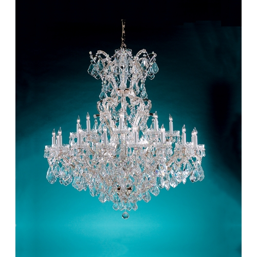 Crystorama Lighting Crystal Chandelier in Polished Chrome Finish 4424-CH-CL-SAQ