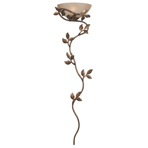 Kenroy Home Lighting Convertible Plug-In / Direct Wire Wall Light with Amber Glass in Golden Bronze Finish 20624GLBR
