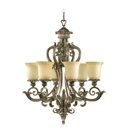 Quorum Lighting Quorum Lighting Barcelona Mystic Silver Chandelier 6100-6-58