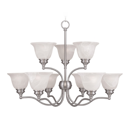 Livex Lighting Livex Lighting Essex Brushed Nickel Chandelier 1349-91
