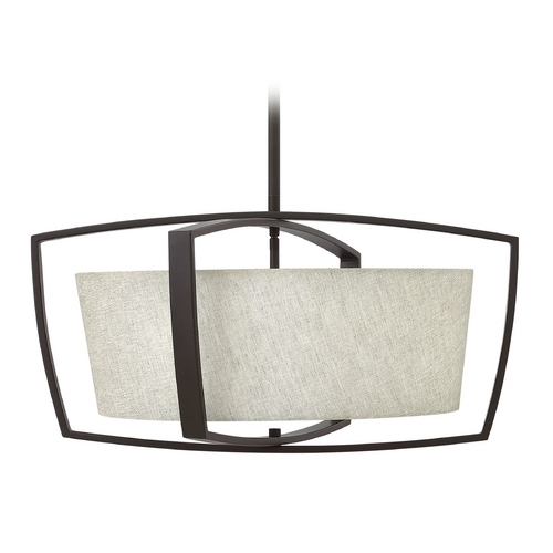 Hinkley Lighting Hinkley Lighting Blakely Buckeye Bronze Pendant Light with Drum Shade 3794KZ