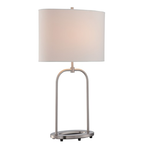 Lite Source Lighting Lite Source Lighting Cailean Polished Steel Table Lamp with Oval Shade LS-22665