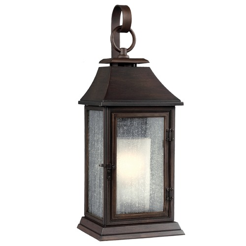 Feiss Lighting Seeded Glass Outdoor Wall Light Copper Feiss Lighting OL10602HTCP