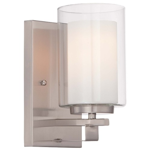 Minka Lighting Minka Parsons Studio Brushed Nickel Sconce 6101-84
