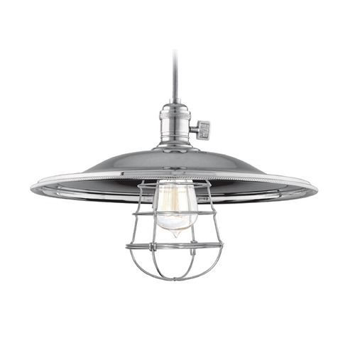 Hudson Valley Lighting Hudson Valley Lighting Heirloom Historic Nickel Pendant Light with Bowl / Dome Shade 8002-HN-MM2-WG