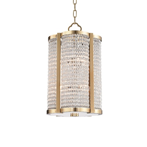 Hudson Valley Lighting Hudson Valley Lighting Ballston Aged Brass Pendant Light 4312-AGB