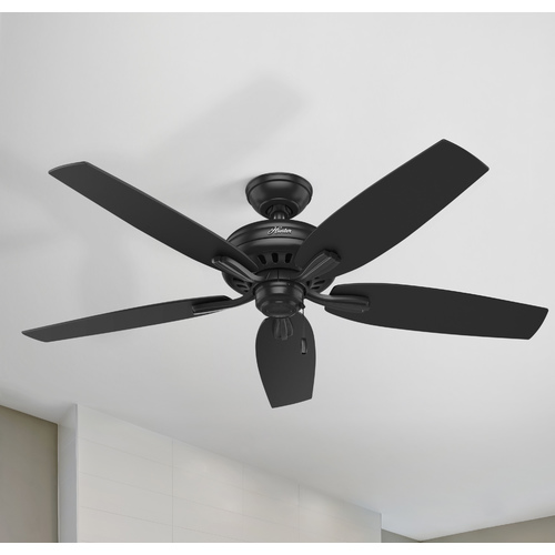 Hunter Fan Company Hunter Fan Company Newsome Black Ceiling Fan Without Light 53324