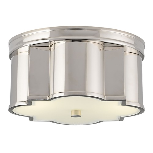 Currey and Company Lighting Currey and Company Wicklow Polished Nickel Flushmount Light 9999-0007
