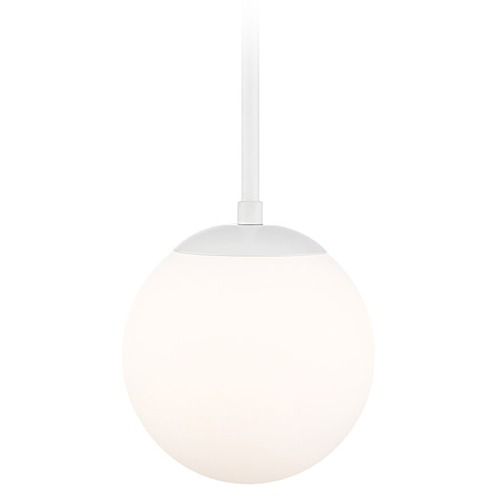 WAC Lighting Wac Lighting Niveous White LED Mini-Pendant Light with Globe Shade PD-52307-WT