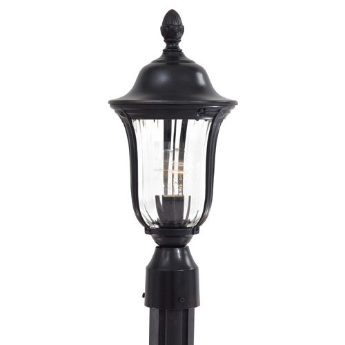 Minka Lavery Post Light with Clear Glass in Heritage Finish 8845-94
