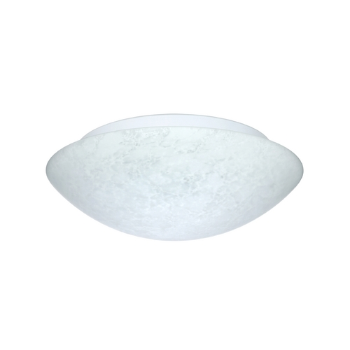 Besa Lighting Flushmount Light with White Glass 977019C