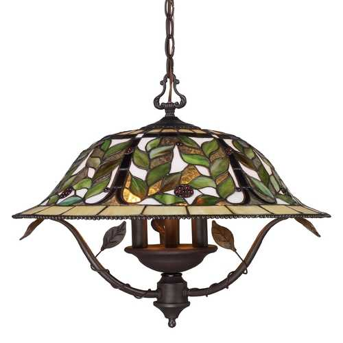 Elk Lighting Chandelier with Tiffany Glass in Bronze Finish 08016-TBH