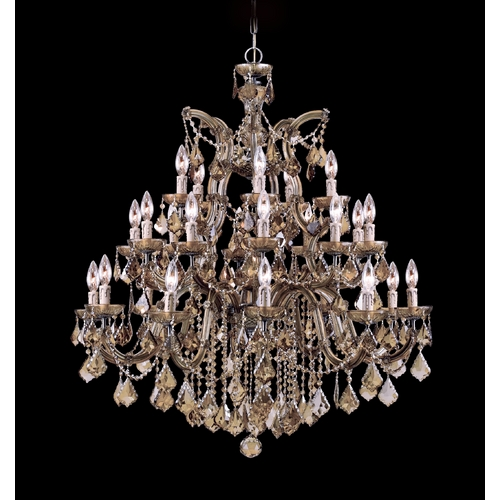 Crystorama Lighting Crystal Chandelier in Antique Brass Finish 4470-AB-GT-MWP