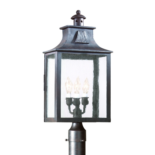 Troy Lighting Post Light with Clear Glass in Old Bronze Finish P9006OBZ