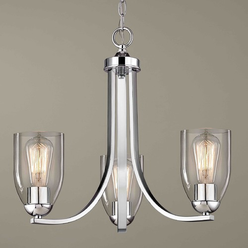 Design Classics Lighting Design Classics Dalton Fuse Chrome Mini-Chandelier 5843-26 GL1040D