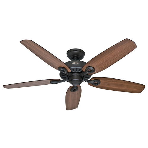 Hunter Fan Company Hunter Fan Company Builder Elite New Bronze Ceiling Fan Without Light 53242