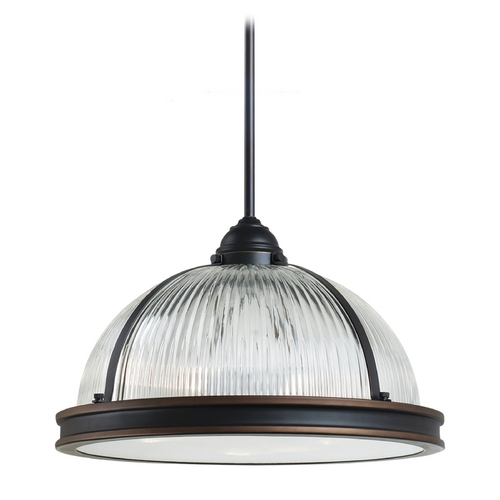 Sea Gull Lighting Pendant Light with Clear Glass in Autumn Bronze Finish 65062-715