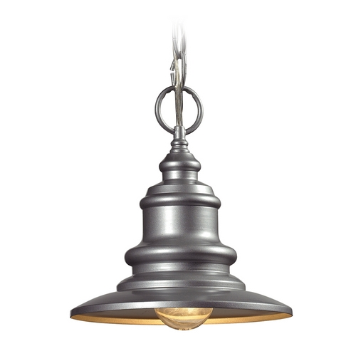 Elk Lighting Outdoor Hanging Light in Matte Silver Finish 47021/1