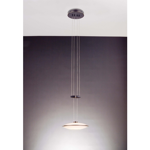 Holtkoetter Lighting Holtkoetter Modern Low Voltage Mini-Pendant Light with White Glass 5701 HBOB GB20