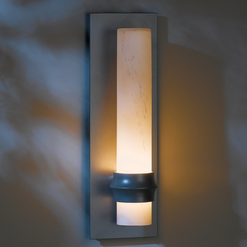 Hubbardton Forge Lighting Hubbardton Forge Lighting Rook Burnished Steel Outdoor Wall Light 304930-08-H321