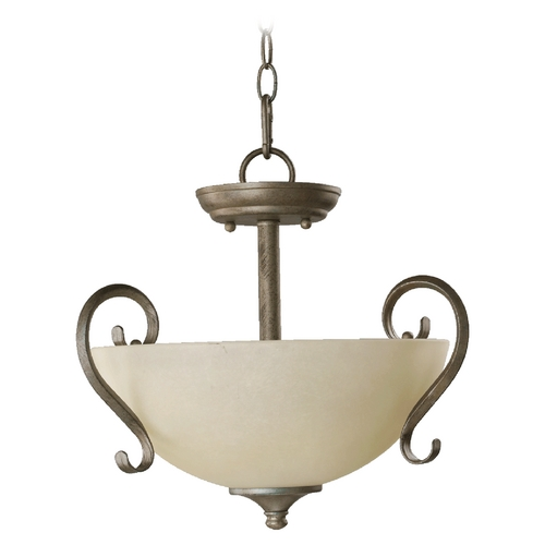 Quorum Lighting Quorum Lighting Powell Old World Pendant Light with Bowl / Dome Shade 2808-15-95