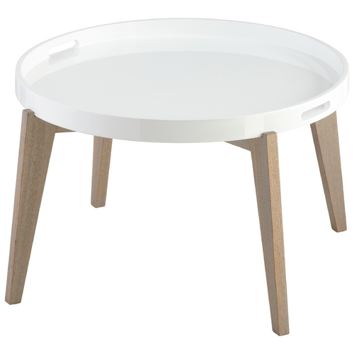 Cyan Design Cyan Design Van Dyke White Lacquer Table 06353