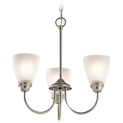 Kichler Lighting Kichler Jolie 3-Light Mini Chandelier in Brushed Nickel 43637NI