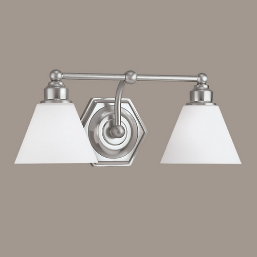 Norwell Lighting Norwell Lighting Jenna Brush Nickel Bathroom Light 8532-BN-OP
