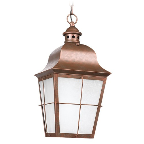 Sea Gull Lighting Sea Gull Lighting Chatham Weathered Copper LED Outdoor Hanging Light 606291S-44